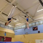 Athlete trampoline courses. Athletes practicing new moves in our athlete trampoline courses