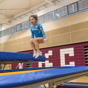 Trampoline courses for all. A leisure members having fun at Kingston Trampoline Academy