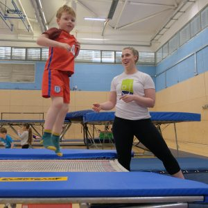 Tramp & Tumble trampoline lessons for 4-6 year olds at Kingston Trampoline Academy. One of the leading trampoline clubs in the UK