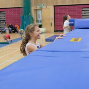 Watching and learning other members at Kingston Trampoline Academy