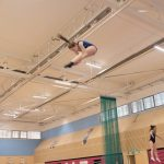 Athlete trampoline courses