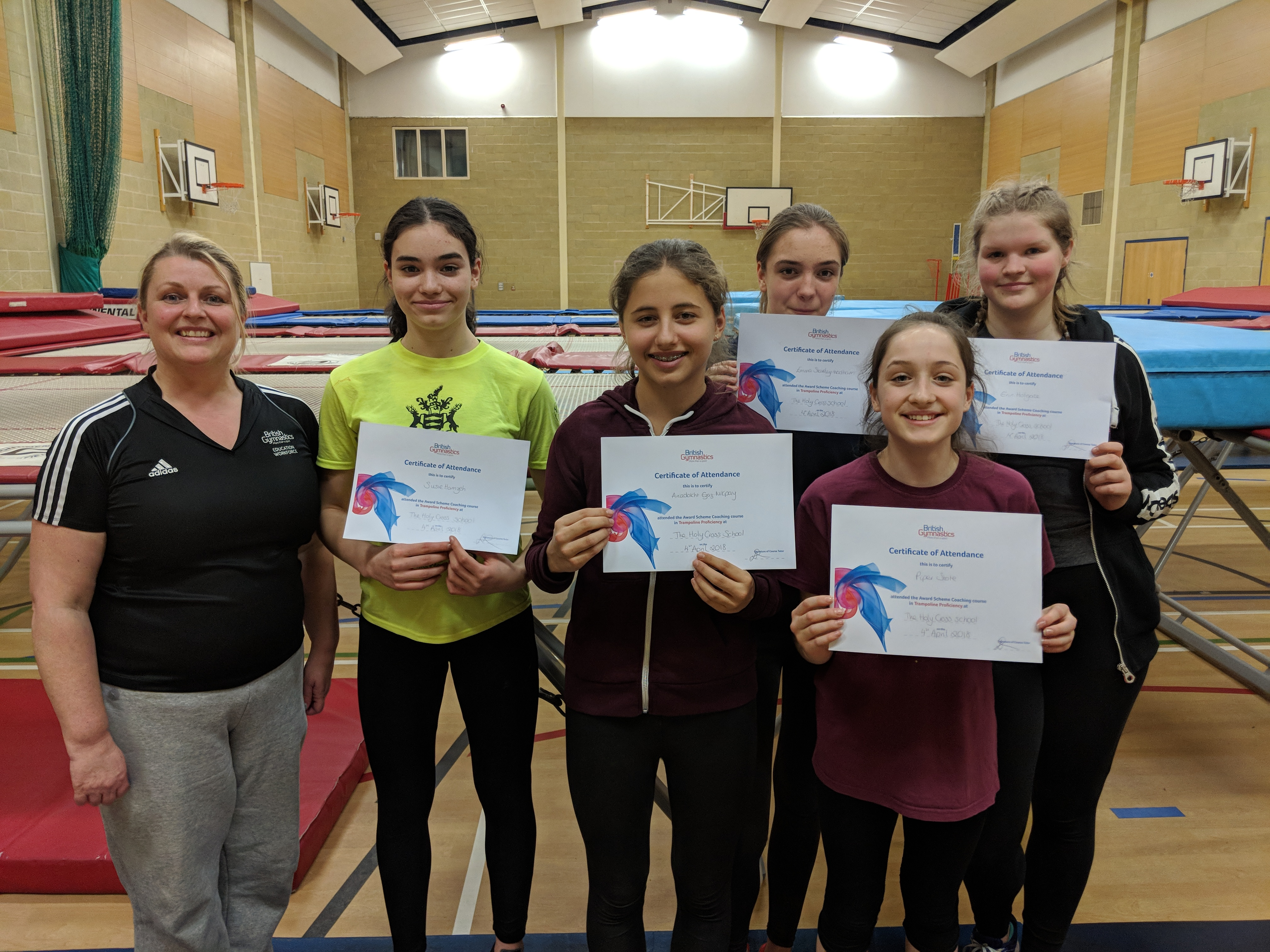 Award Scheme Coach March 2018 - Five new coaches complete their British Gymnastics training