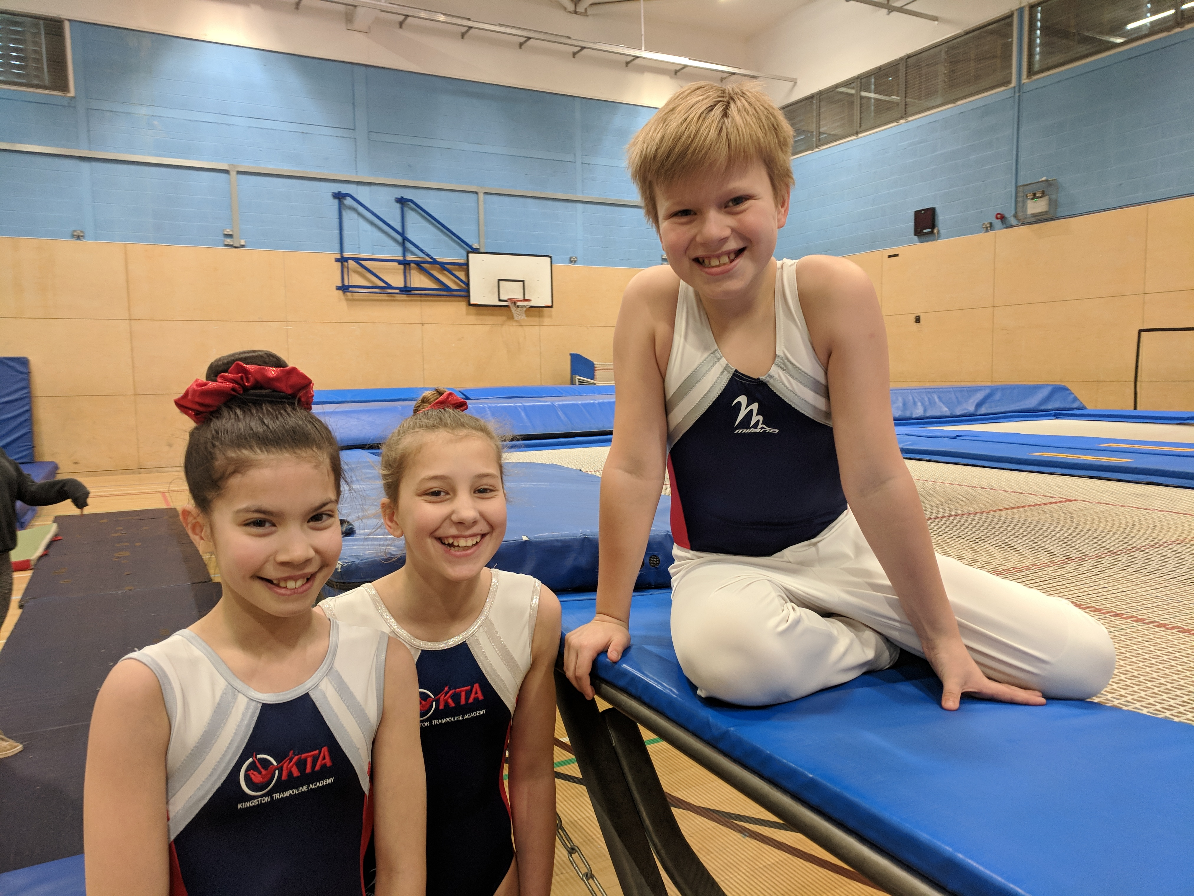 Jump for Fun trampoline lessons for 8-12 year olds at Kingston Trampoline Academy. ONe of the leading trampoline clubs in the UK.