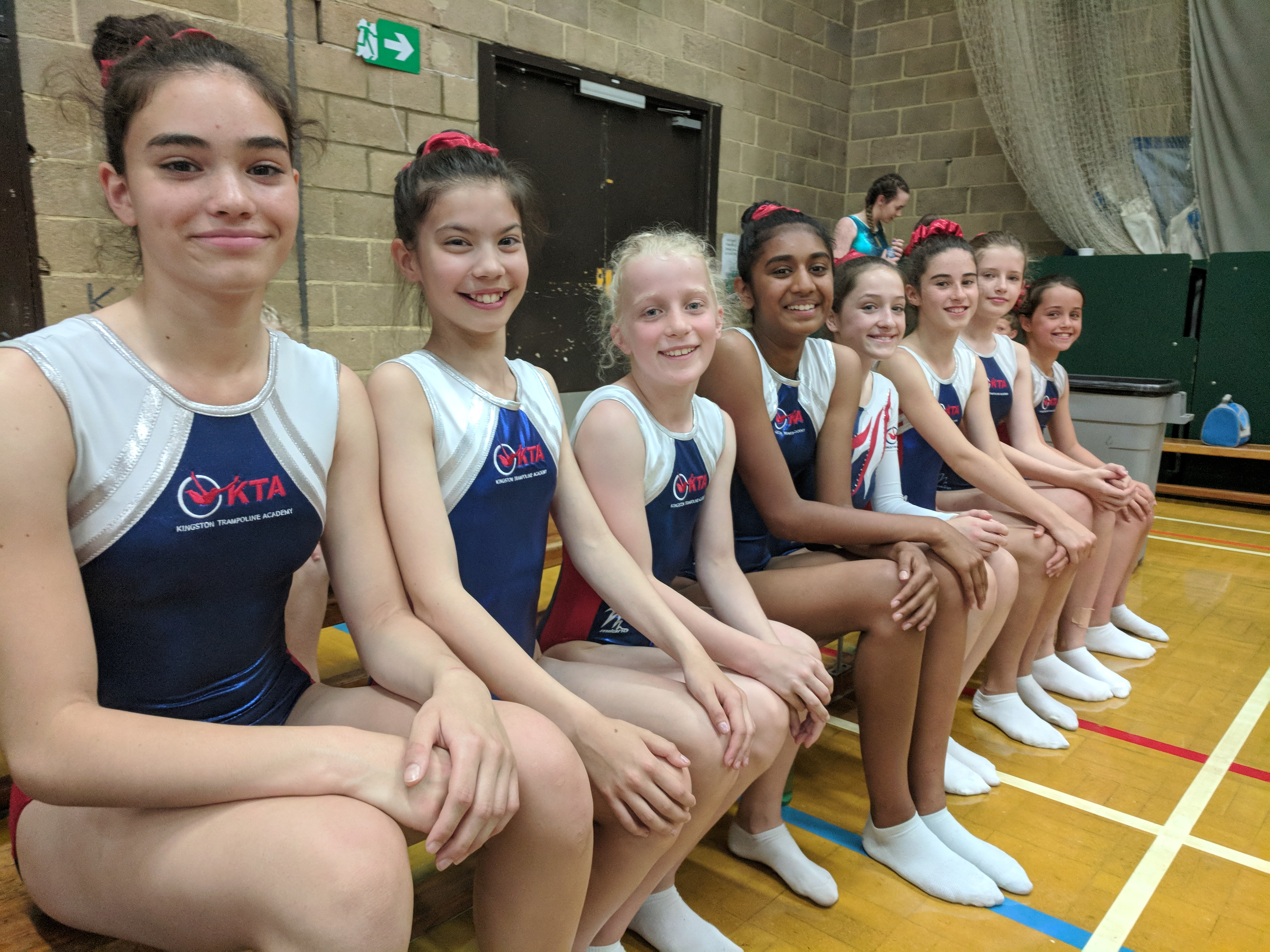 London Regional 4 - Gymnasts compete from Kingston Trampoline Academy