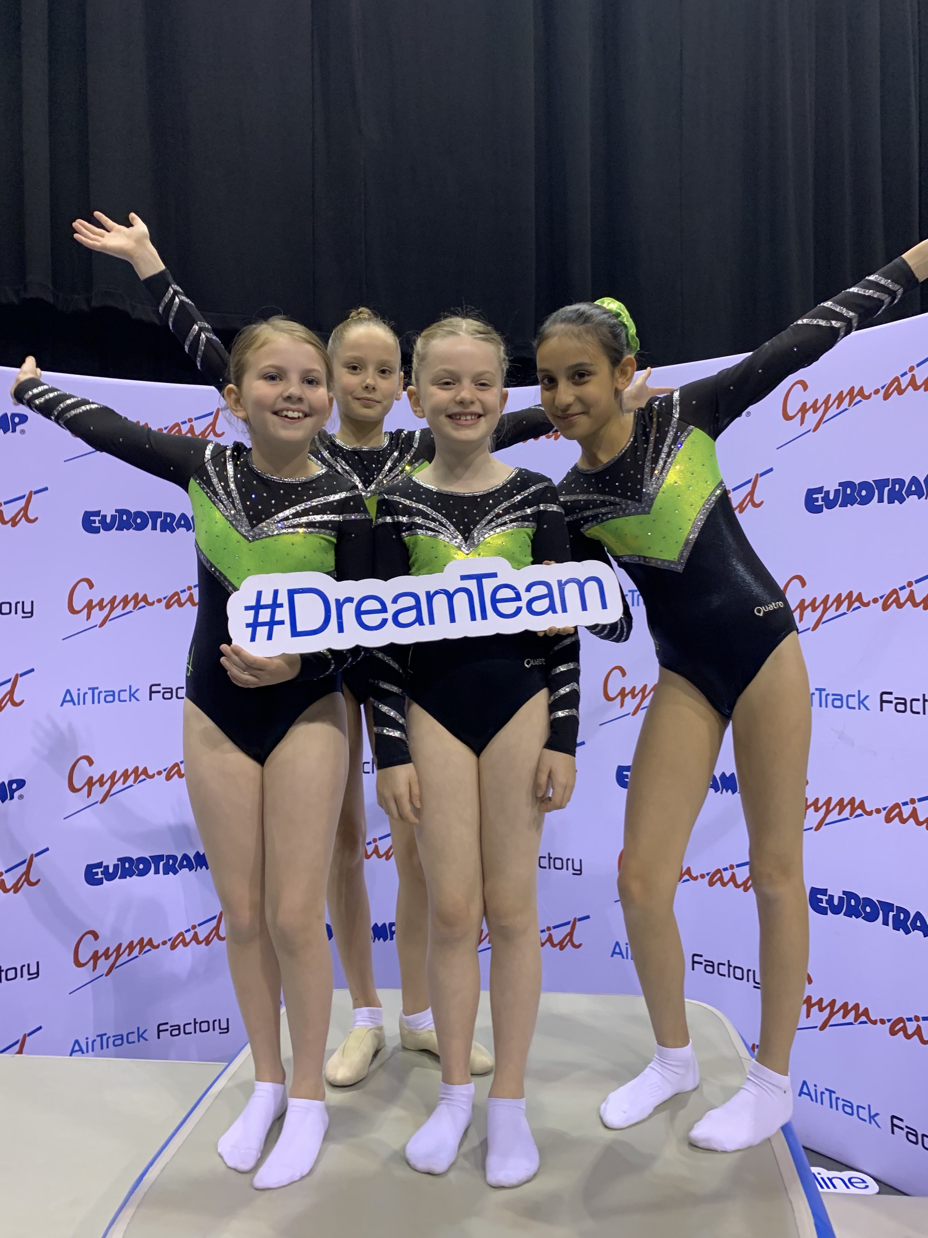 4 Members Of Kingston Trampoline Academy on the podium at English Championships qualifying round 2