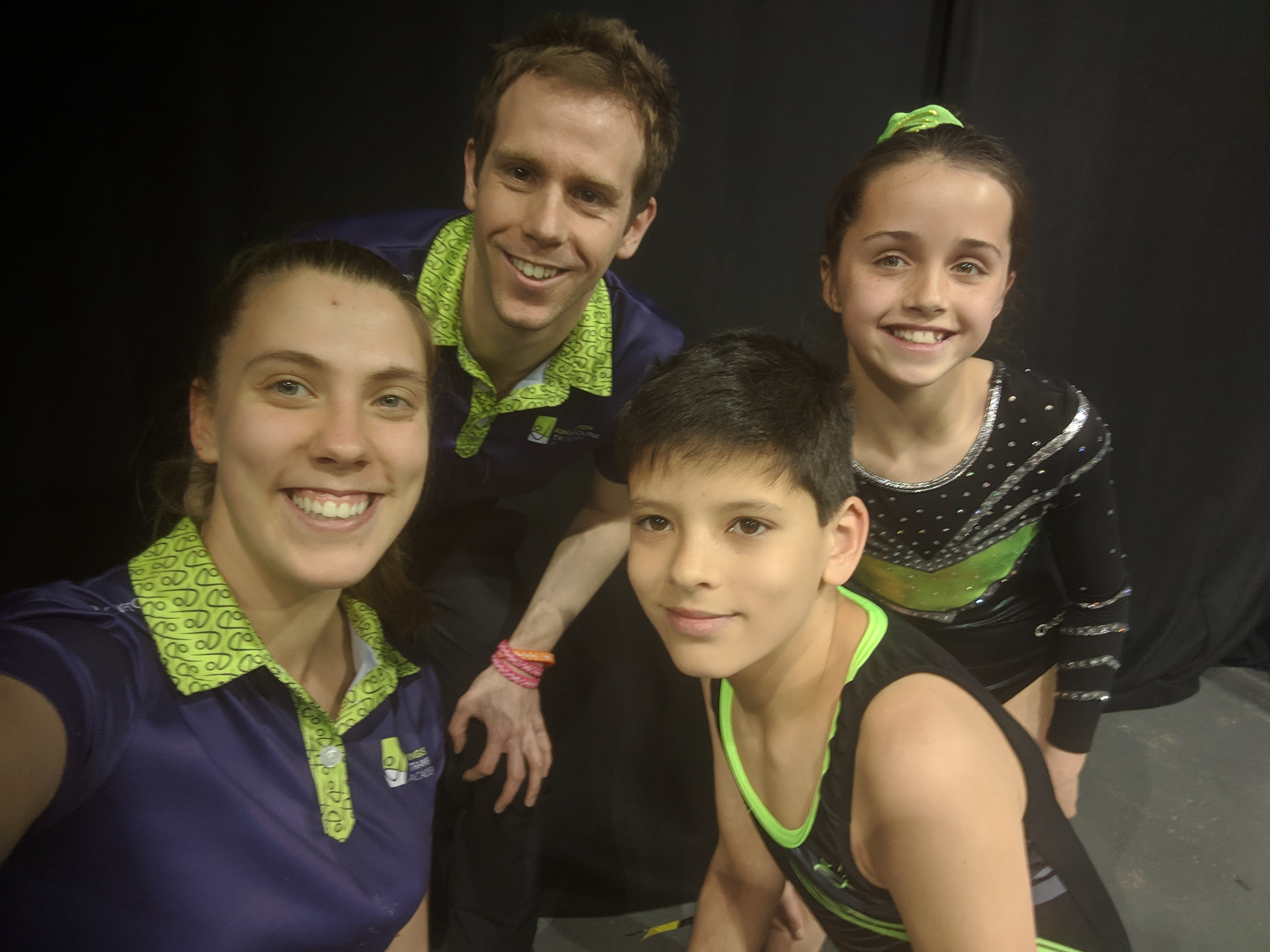 Kingston Trampoline Academy medal winners and coaches