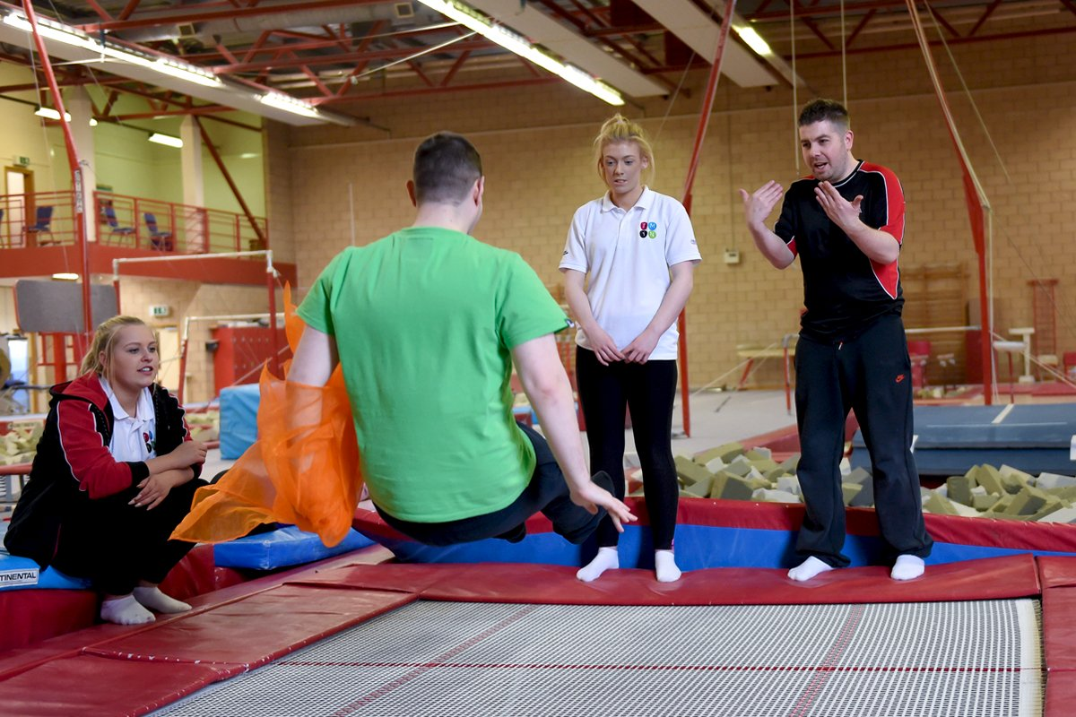 Disability trampoline bouncing - Disability Drop-In Class