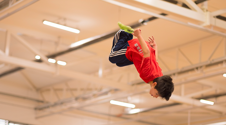 Back Somersault in Leisure Trampoline Class at Kingston Trampoline Academy